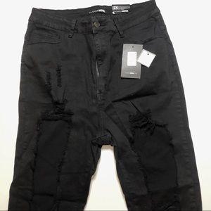 Fashion Nova Shawna Distress Jeans